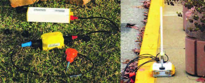 Geospace and Wireless Seismic cable-free land seismic recording units.